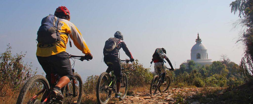 Biking-World Peace Stupa